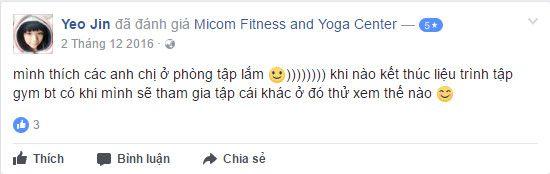 Đánh giá phòng tập Micom Fitness & Yoga Center