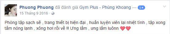 Đánh giá phòng tập Gym Plus