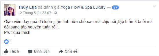 NĐánh giá phòng tập Yoga Flow & Spa Luxury