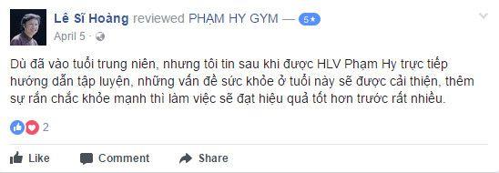 NĐánh giá phòng tập Phạm Hy Gym
