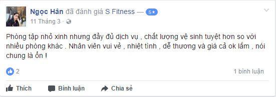 Đánh giá phòng tập S Fitness Hoàng Việt