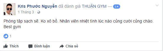 Đánh giá phòng tập Thuận Gym
