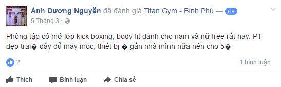 NĐánh giá phòng tập Titan Gym Bình Phú