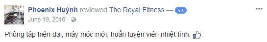 Đánh giá Phòng tập gym Royal Fitness, Bàu Cát 5, Quận Tân Bình