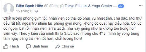 Đánh giá phòng tậpTokyo Fitness & Yoga Center Trường Chinh, Quận Đống Đa