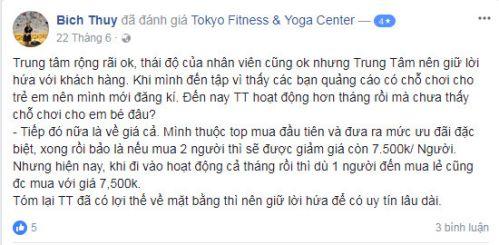 Đánh giá phòng tập Tokyo Fitness & Yoga Center Trường Chinh, Quận Đống Đa